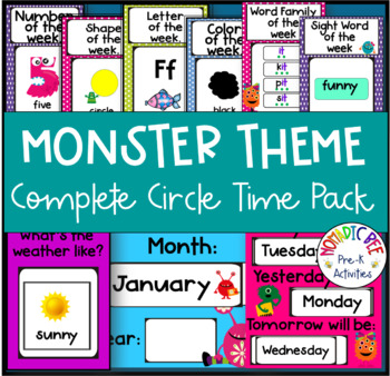Monster Themed Complete Circle Time Printable Pack