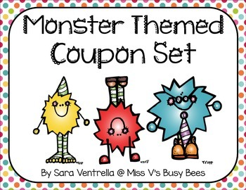 Monster Themed Coupon Set
