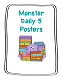 Monster Themed Daily 5 Signs- Big and Small