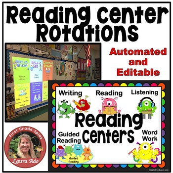Monster Themed Daily Automated Centers and Guided Reading