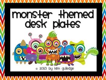 Monster Themed Desk Plates