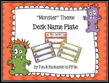 Monster Themed Deskplate/Name Tag