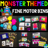 Monster Themed Fine Motor Task Boxes