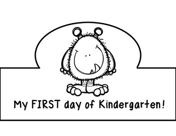 Monster Themed First Day of School Certificate and Crown