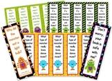 Monster Themed Funny Joke Bookmarks