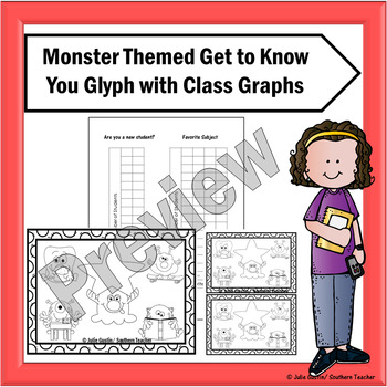 Monster Themed Get to Know You Glyph with Graphs