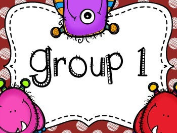 Monster Themed Group/Table Signs