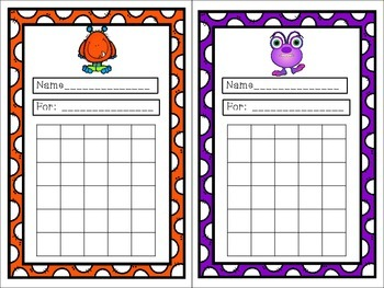 Monster Themed Incentive Charts