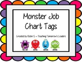 Monster Themed Job Chart Tags