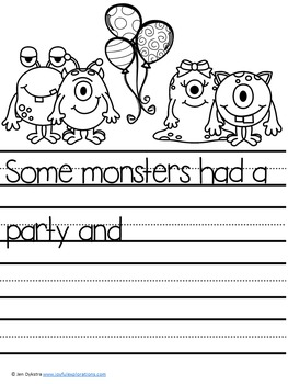 Monster Themed Journal Prompts and Story Starters (Perfect for Halloween!)