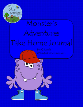 Monster Themed Journal - Take Home Friend