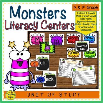 Monster Themed  Literacy Centers