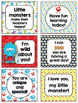 Monster Themed Lunchbox Notes, Jokes, and Bottle Wraps