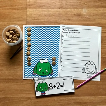 Monster Themed Math Activities:  Counting Cookies