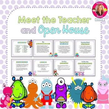 Monster Themed Meet the Teacher and Open House EDITABLE PowerPoint