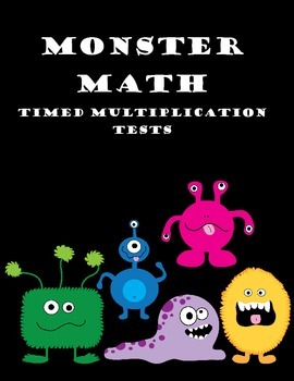 Monster Themed Multiplication Fact Tests