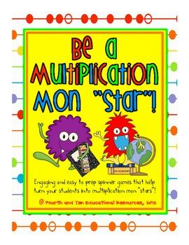 Monster Themed Multiplication Spinner Games