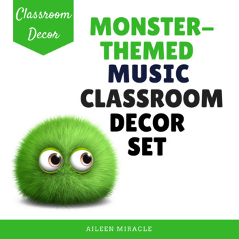 Monster-Themed Music Classroom Decor Set