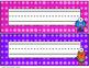 Monster Themed Name Plates (Editable)-Classroom Decor