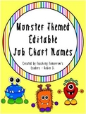 Monster Themed Name Tags - Editable