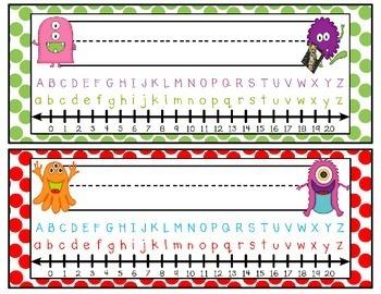 Monster Themed Classroom: Nameplates