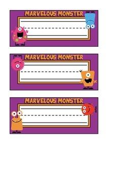 Monster Themed Nameplates