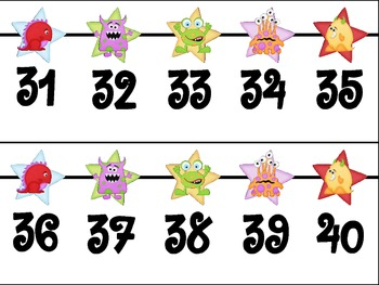 Monster Themed Number Line