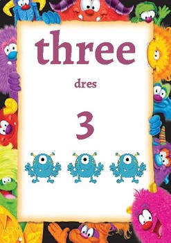 Classroom Decor-Monster Themed Number Posters