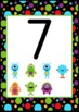 Monster Themed Numbers 0 to 20 Posters