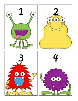 Monster Themed Numbers 1-30