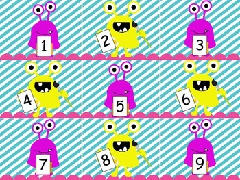 Monster Themed Numbers