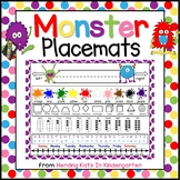Monster Themed Classroom: Resource Placemats