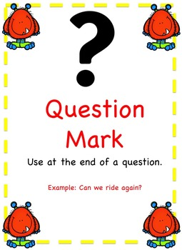 Monster Themed - Punctuation Posters