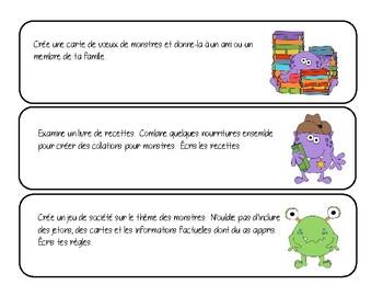 Monster-Themed Reading Comprehension - EN FRANCAIS!