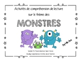 Monster-Themed Reading Comprehension - EN FRANCAIS!