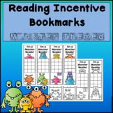 Monster Themed Reading Incentive Bookmarks