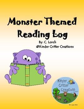 Monster Themed Reading Log