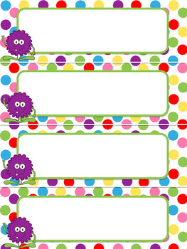 Monster Classroom Theme- Schedule Cards