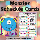 Schedule Cards- Monsters