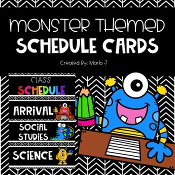 Monster Themed Schedule Cards
