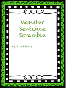 Monster Themed Scramble Sentences