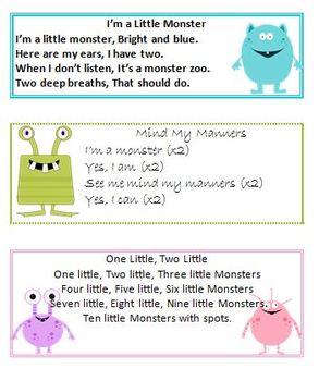 Monster Themed Songs