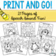 Monster Themed Speech Sound Worksheets- No Prep