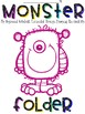 Monster Themed Student Folder Cover