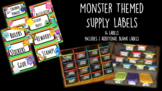 Monster Themed Supply Labels