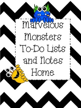 Monster Themed To Do Lists and Note Home