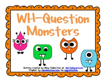 Monster Themed WH-Question Cards