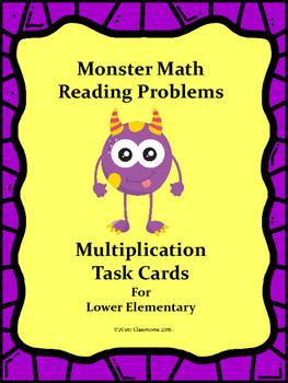 Monster Themed Word Problems for Lower Elementary: Multiplication