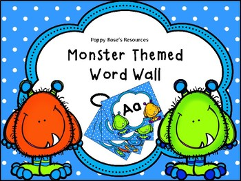 Monster Themed Interactive Word Wall