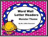 Monster Themed Word Wall Headers